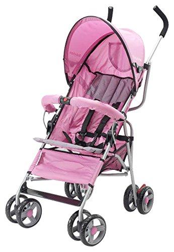 Big Oshi Lexington Stroller, Grey & Pink