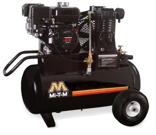 Mi T M Am1 Pr07 20M Portable Air Compressor  20 Gallon  Single Stage With Gasoline
