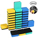 Magnetic Whiteboard Erasers, Womdee EVA Dry Eraser Erasers Chalkboard Cleansers Wiper, Magnetic for Cleaning Dry Erase Pens and Markers Off White Boards for Office, Home, School Classroom (30 Pcs)