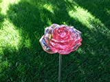 Solar Red Rose Blossom Lights , Multi-color Color Changing Flower LED Garden Stake Outdoor Yard Decorative Landscape Lamp, Perfect Gift For Sale