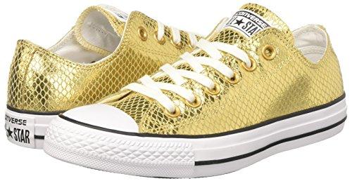 Oro Sneaker Ctas gold Collo white Basso Ox Donna black A Converse pZ1AnqOA