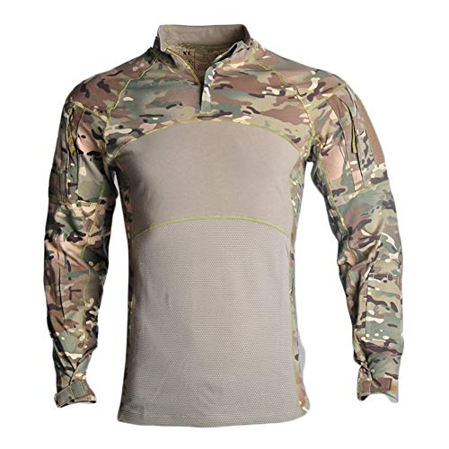 Camo T Shirts for Men Cotton Army T-Shirt Hunting Shooting Tshirt Camouflage Tee Top CP Woodland,Camouflage,M