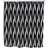 Strips In Africa Shower Curtain: Large Waterproof Luxurious Bathroom Design Woven Fabric