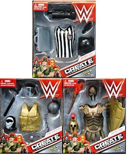 Mattel Star - Mattel WWE Create A Superstar, Cops Robbers, Warrior Spy 3-Pack Expansion Pack Bundle