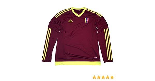 Adidas Venezuela 2015/16 Home - Camiseta de manga larga, Medium, Rojo vino: Amazon.es: Deportes y aire libre
