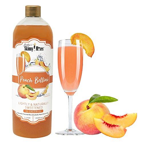 Cocktail Peach (Peach Bellini - Jordan's Skinny Mixes for Cocktails, 1 Liter (Peach Bellini, 1 Liter))