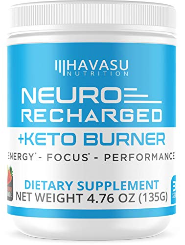 Havasu Nutrition Extra Strength Keto Brain Supplement for Energy & Focus - Mental Performance Nootropic & Pre Workout with Natural Caffeine, Ginkgo Biloba & More - No Crash Brain Booster 4.76 oz
