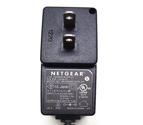 AC - DC ADAPTER 7.5VDC @ 1 AMP 1.3MM DC POWER PLUG + CENTER by NETGEAR (Image #1)