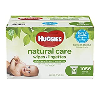 Huggies Natural Care Unscented Baby Wipes, Sensitive, 6 Refill Packs and Clutch 'N' Clean (Old Version) (B076S46BGS) | Amazon price tracker / tracking, Amazon price history charts, Amazon price watches, Amazon price drop alerts