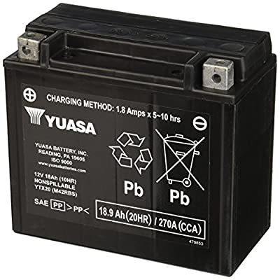 Yuasa YUAM42RBS YTX20 Battery