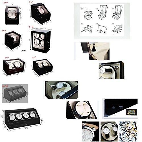 KAIHE-BOX Automatic Watch Winder Winder sstorages box Display Box Case Quiet Mabuchi Motors WB6938 , #11 by KAIHE-BOX (Image #2)
