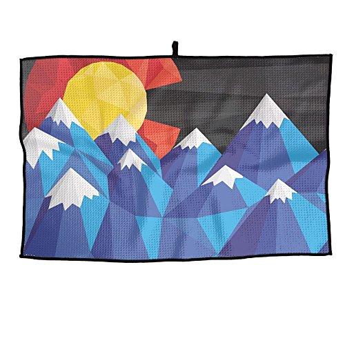 HenSLK United States Sunrise Flag Soft Waffle Towel Microfib