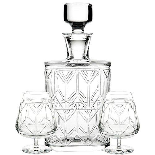 Vista Alegre Atlantis Avenue Case with Whisky Decanter and 2 (Atlantis Decanter)
