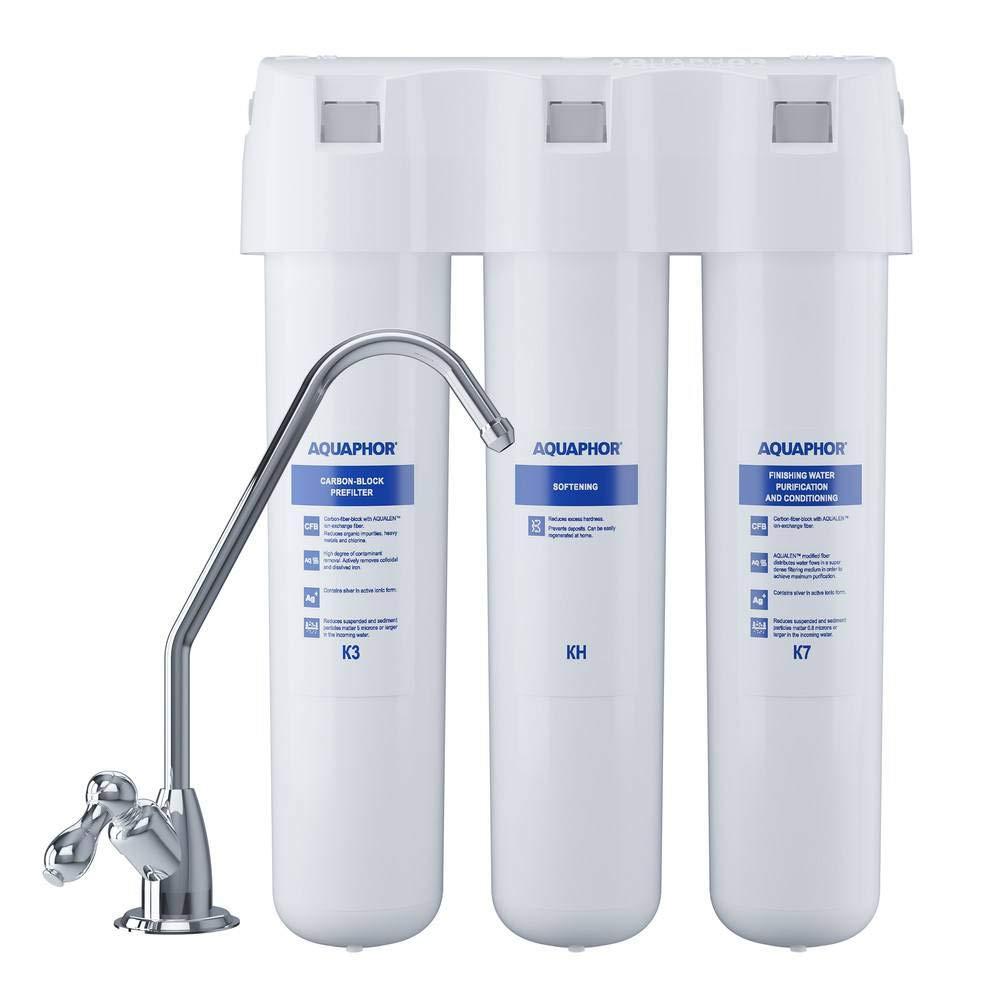 K7 KH f/ür hartes Wasser. AQUAPHOR Wasserfiltersystem Crystal H mit Filter K3