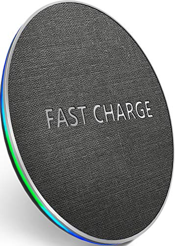 GETIHU Wireless Fast Charger Qi-Certified Phone Charging Pad Station 7.5W Compatible with iPhone Xs Max/XS/XR/X/8/8 Plus, 10W Compatible with Samsung Galaxy S9/S9+/Note 9/S8/S8+/Note 8 and More