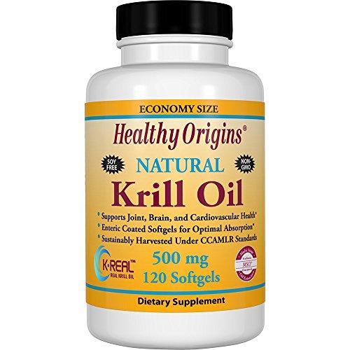Healthy Origins Krill Oil 500 mg, 120 Enteric-Coated Softgels