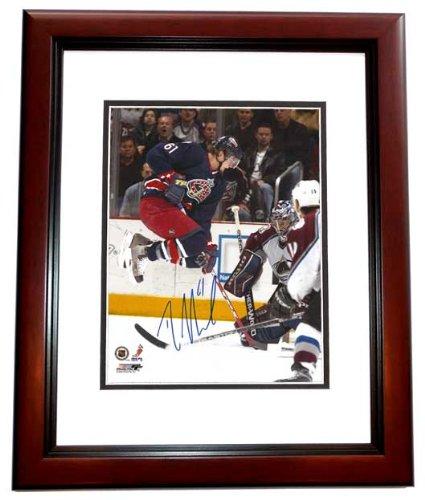 Rick Nash Signed - Autographed Columbus Blue Jackets 8x10 inch Photo MAHOGANY CUSTOM FRAME