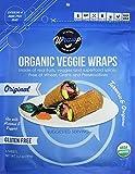 Raw Organic Mini Original Veggie Wraps (4 Pack)   Wheat-Free, Gluten Free, Paleo Wraps, Non-GMO, Vegan Friendly Made in the USA