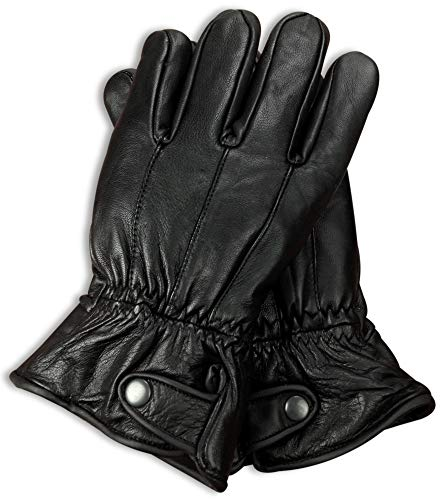 Luxury Soft Men's Genuine Nappa Sheepskin Leather with 3M Thinsulate Gloves (Button, X-Large) 3 Meter Thinsulate Gloves