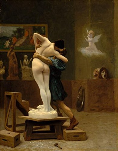 Oil Painting 'Jean-Leon Gerome-Pygmalion And Galatea,1890' 30 x 39 inch / 76 x 98 cm , on High Definition HD canvas prints is for Gifts And Bed Room, Home Theater And Kids Room Decoration