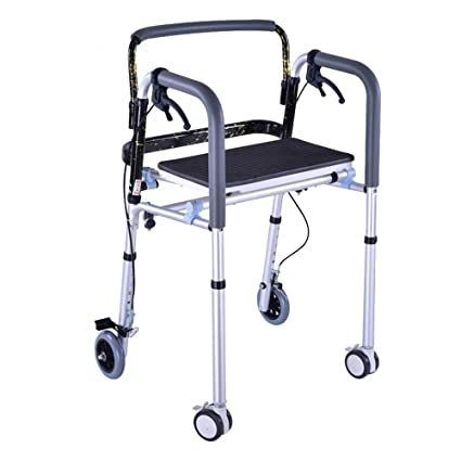 Amazon.com: YX Floding Walker Bariatric Heavy Duty con 4 ...