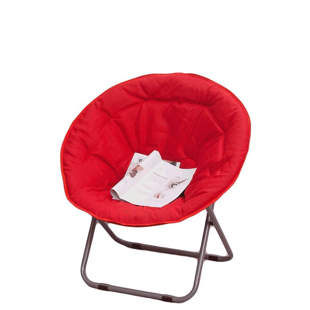 rouge  Chaises Pliantes Moon Chair, Lounge Chair, Pliage, Paresseux, Dos, Maison, Balcon, Pause déjeuner, Nap, Bureau, Student, Dortoir, Lounge, Capacité de rouleHommest 100Kg (Couleur   vert)