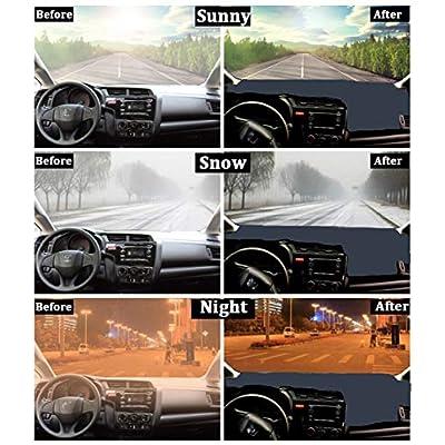 HanLanKa Dashboard Cover for GMC Sierra and Chevrolet Silverado- Fits 2007-2013 Models with Two Glove Boxes. Custom Fit Dash Mat, Won't Break Dash Sensors(Premium Carpet, Black): Automotive