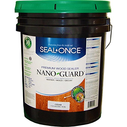 Seal Once 3110 premixed Nano Guard Premium Wood Sealer Cedar 5-gallon by Seal Once