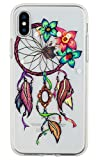 iPhone X Case, iPhone 10 Case, 3Cworld Ultra Thin Clear Art Pattern Crystal Gel TPU Rubber Flexible Slim Skin Soft Case for iPhone X (Dream Catcher – Colorful)