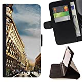 SHIMIN - FOR Apple Iphone 5 / 5S - Barcelona Hdr - Personalized Design Custom Style PU Leather Case Wallet Flip Stand