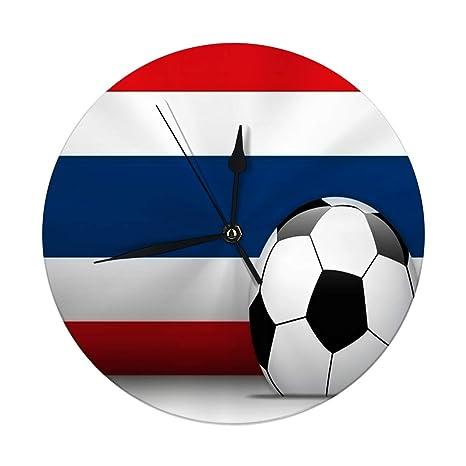 auguce Reloj de Pared Moderno Balón de fútbol de Tailandia con ...