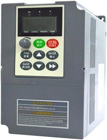 VFD 0.75kW 220V,Variador de frecuencia variable para Fase /única,Control de PWM