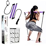 Portable Pilates Bar Kit with 30LB Thick Resistance