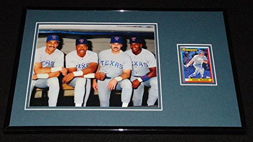 Autographed Rafael Palmeiro Picture - Framed 11x17 Display w Sierra Franco & Gonzalez - Autographed MLB Photos ()