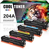 Cool Toner 4PK Compatible for HP 204A CF510A CF511A CF512A CF513A M180nw Toner Cartridge for HP Color LaserJet Pro MFP M180nw M180n M181fw M181 M154nw M154a Printer Toner (Black Cyan Yellow Magenta)