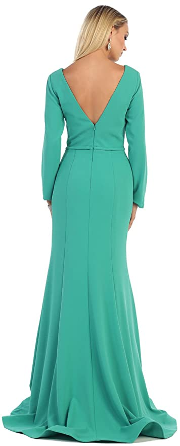 Royal Queen RQ7358 Modern Mother Of The Bride Dress - Multicoloured -: Amazon.co.uk: Clothing