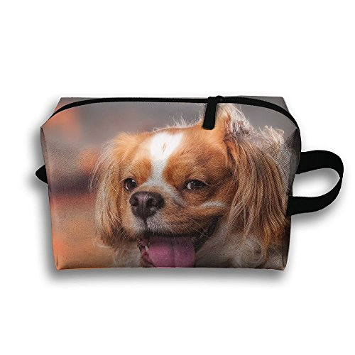 Cute Dog Face Cosmetic Bags Makeup Organizer Bag Pouch Zipper Purse Handbag Clutch Bag]()