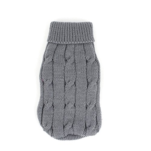 Uxcell-Twisted-Knit-Ribbed-Cuff-Winter-Warm-Pet-Apparel-Sweater-XX-Small-Gray