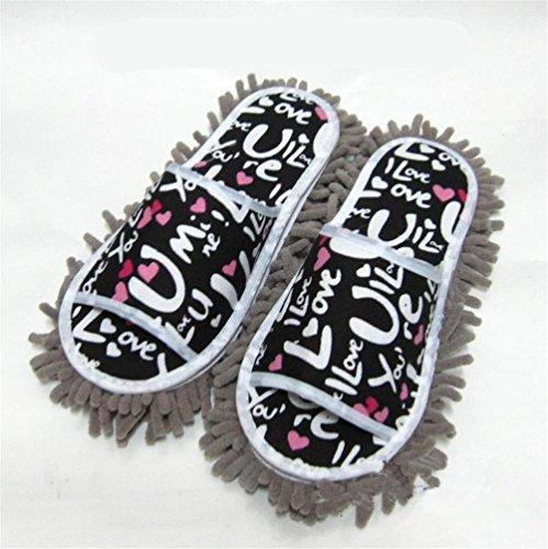 mhgao Ladies Casual algodón Zapatillas la Lazy Clean Zapatillas Doble extraíble y lavable, azul claro, medium gris