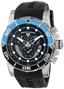Swiss Legend Men's 21368-01-EBLAB Avalanche Chronograph Black Dial Silicone Band Watch
