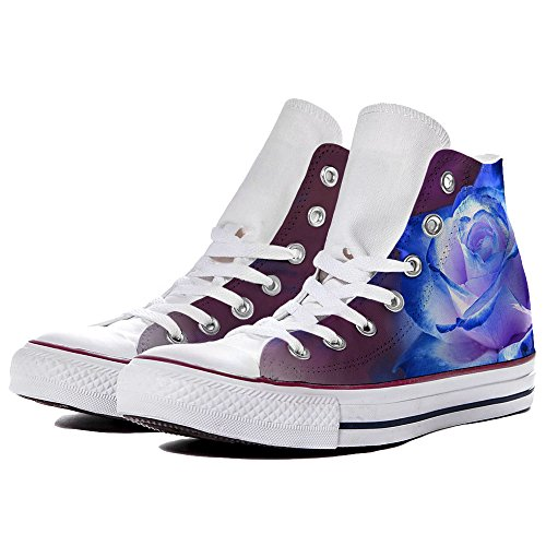 Sneaker Scarpe Converse Personalizzate Blue Roses by YourStyle