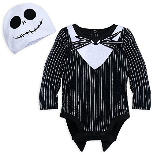 Disney Jack Skellington Costume Bodysuit with Hat for