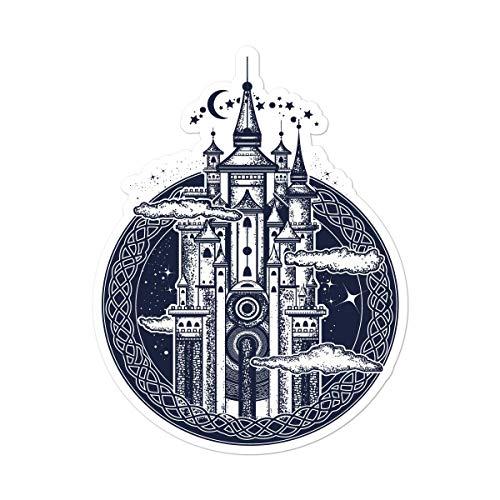 Milk Mug Designs Castle in The Sky 5 inch Full Color Vinyl Decal