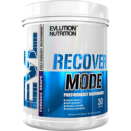 Evlution Nutrition Recover Mode Post Workout with BCAAs, Creatine, Glutamine, Beta-Alanine, L-Carnitine, Vitamins and More, 30 Servings (Furious Grape)