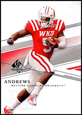 2014 SP Authentic #27 Antonio Andrews NM-MT Western Kentucky Hilltoppers Official Collegiate Football Card