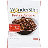WonderSlim High Protein Pretzel Snacks - Low-Carb Diet Healthy 12g Protein Snack For Weight Loss, Cinnamon Toast, 20 Bags