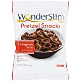 WonderSlim High Protein Pretzel Snacks - Low-Carb Diet Healthy 12g Protein Snack For Weight Loss, Cinnamon Toast, 10 Bags