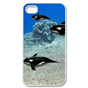 Dolphin Unique Fashion Printing Phone Case for Iphone 4,4S,personalized cover case ygtg519608