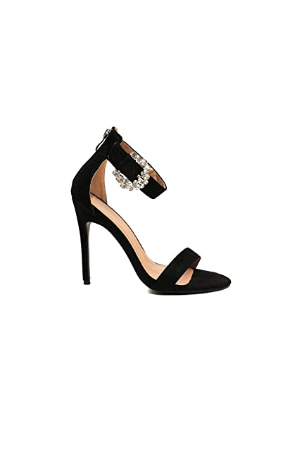 Escarpins Ikrush Womens Diana Diamante Broche Satin Talons