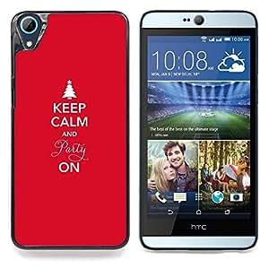 """Qstar Arte & diseño plástico duro Fundas Cover Cubre Hard Case Cover para HTC Desire 826 (Invierno Navidad Vacaciones Red Spruce Tree"""")"""